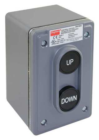 Push Buttn Cntrol Statn 2NO Up/Down 22mm by USA Dayton Electrical Push Button Control Stations