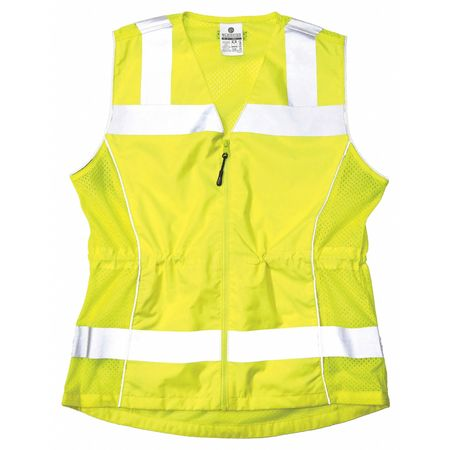 Large Womens High Visibility Vest, Lime