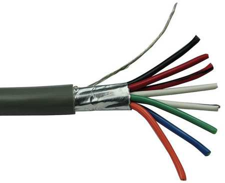 28 AWG 8 Conductor Stranded Multi Conductor Cable GY by USA Carol Electrical Wire & Cable