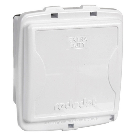 While In Use Weatherproof Cover White Model 2CKPM W by USA Red Dot Electrical Weatherproof Box Covers