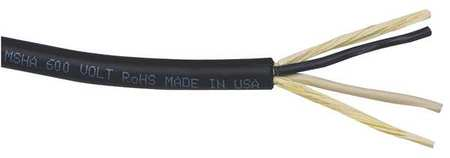 18 AWG 2 Conductor Portable Cord 600V 50 ft. BK by USA Carol Electrical Wire & Cable