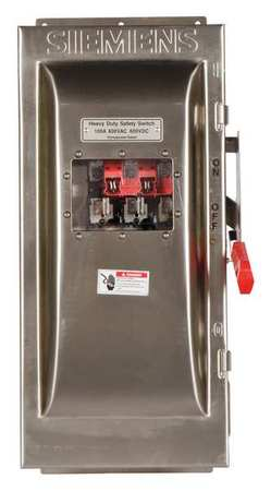 100 Amp 600VAC Single Throw Safety Switch 3P Model HF363SW by USA Siemens Electrical Safety & Disconnect Switches