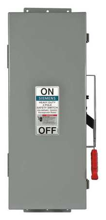 30 Amp 600VAC Single Throw Safety Switch 4P Model HNF461J by USA Siemens Electrical Safety & Disconnect Switches