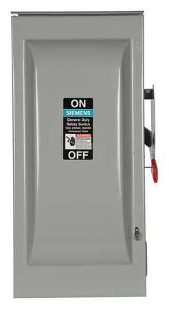 100 Amp 240VAC Single Throw Safety Switch 3P Model GNF323R by USA Siemens Electrical Safety & Disconnect Switches