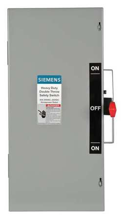 60 Amp 240VAC Single Throw Safety Switch 2P Model DTNF222 by USA Siemens Electrical Safety & Disconnect Switches