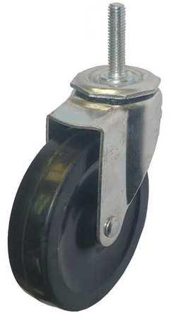 Value Brand Swivel Stem Castr Rubbr 4 in. 115 lb.Blk