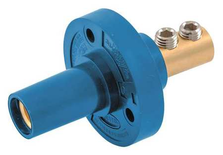 Receptacle Blue Female Taper Nose Double by USA Hubbell Electrical Single Pole Devices
