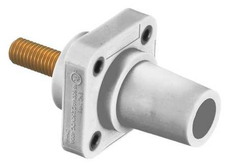Receptacle Wht Female Taper Sud Ser 16 by USA Hubbell Electrical Single Pole Devices