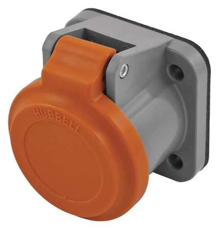 Single Pole Connector Non Met Cover Orng by USA Hubbell Electrical Single Pole Devices