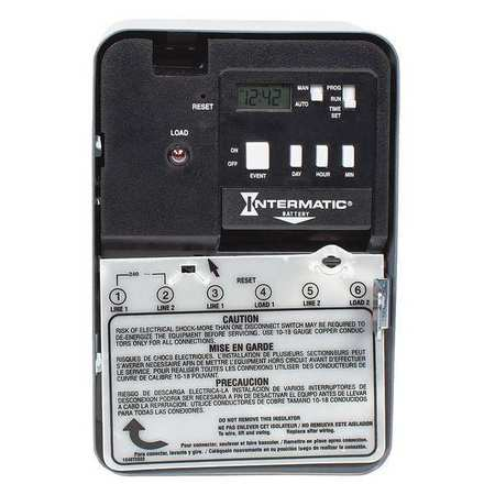 Electronic Timer 24 hr/7 Days SPST by USA Intermatic Electronic Timers