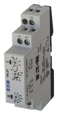 Time Delay Relay 24 to 240VAC/DC 8A SPDT Model TRL07 by USA Eaton Electrical Time Delay Relays