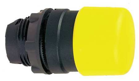 Non Illum Push Button Operator Yellow Model ZB5AC54 by USA Schneider Electrical Non Illuminated Pushbuttons