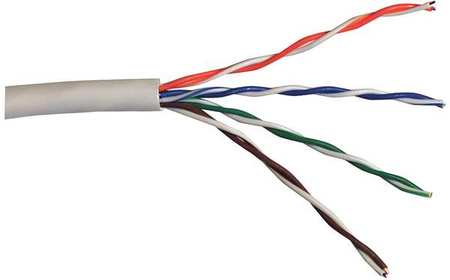 Cable Cat 5e 24 AWG 1000 ft White Model CR5.30.02 by USA Carol Communication Cables