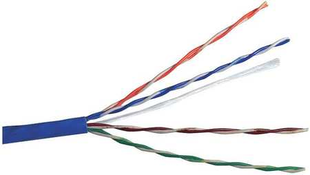 Cable Cat 5e 24 AWG 1000 ft Blue by USA Carol Communication Cables