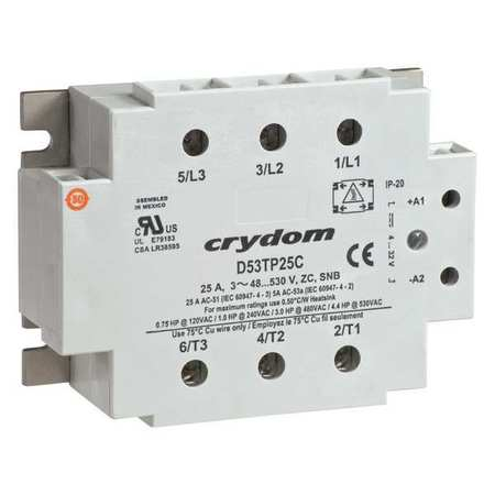 Solid State Relay 180 to 280VAC 25A Model C53TP25C 10 by USA Crydom Electrical Solid State Relays
