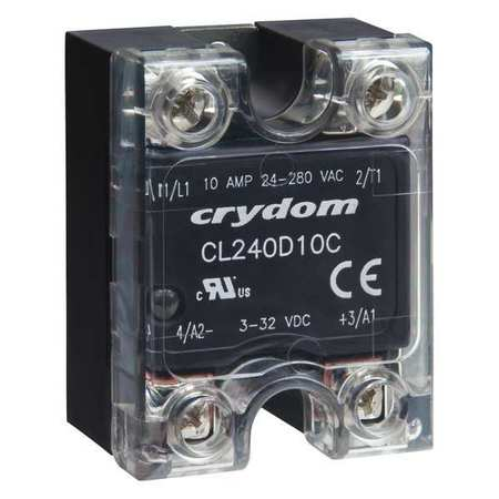 Solid State Relay 3 to 32VDC 10A Model CL240D10C by USA Crydom Electrical Solid State Relays