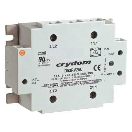 Reversing Solid State Relay 4 32VDC 25A by USA Crydom Electrical Solid State Relays