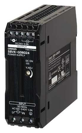 DC Power Supply 24VDC 5A 50/60Hz Model S8VK G12024 by USA Omron Electrical AC DC Power Supplies