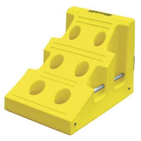 Monster Wheel Chock 22 In H Urethane Yellow