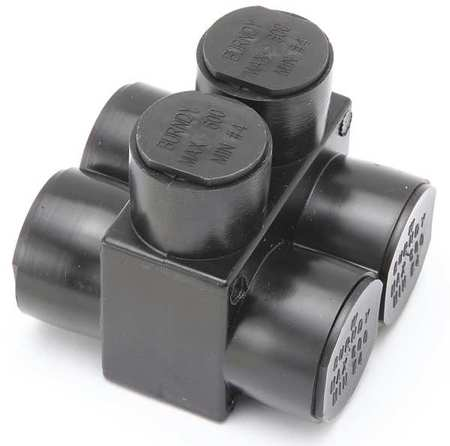 Insulated Multitap Connector 2.75 In. W by USA Burndy Electrical Wire Mechanical Connectors
