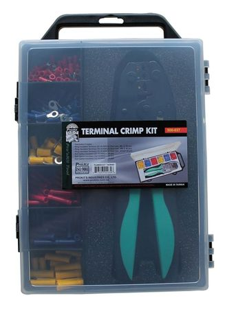 Wire Termnl Kit With Crimp Tool 176 pcs. Model 500 037 by USA Eclipse Electrical Wire Terminals