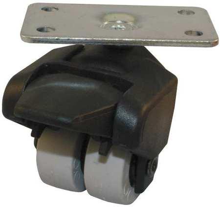 Value Brand Dual Wheel Swivel Caster Brake 150 lb 1-1/2 In. Type 155-2XPU-05-WB
