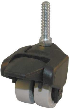 Value Brand Dual Wheel Swivel Caster Brake 150 lb 1-1/2 In. Type 155-2XPU-29-WB