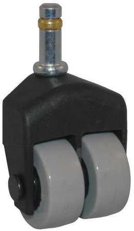 Value Brand Dual Wheel Swivel Caster 150 lb 1-1/2 In Polyurethane Type 155-2XPU-51