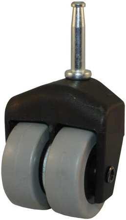 Value Brand Dual Wheel Swivel Caster 150 lb 2 In Dia TPR Type 205-2XTPR-10