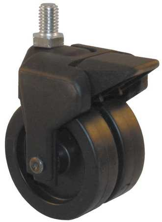 Value Brand Dual Wheel Swivel Caster w/Brake 150 lb 3 In PP