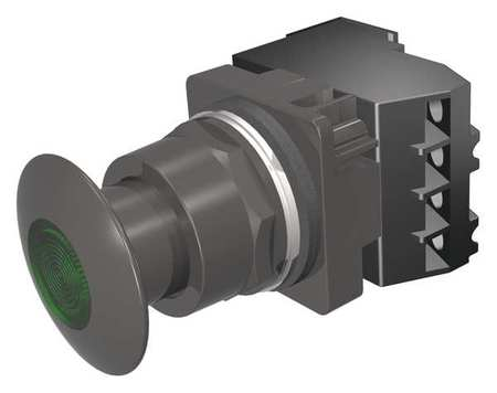 Illuminated Push Button 30mm Green 6VAC Model 52BP2G3A by USA Siemens Electrical Pushbutton Complete Units