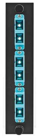 Fiber Adapter Panel 6Fiber Blue Duplex by USA Hubbell Premise Electrical Cabinet Accessories