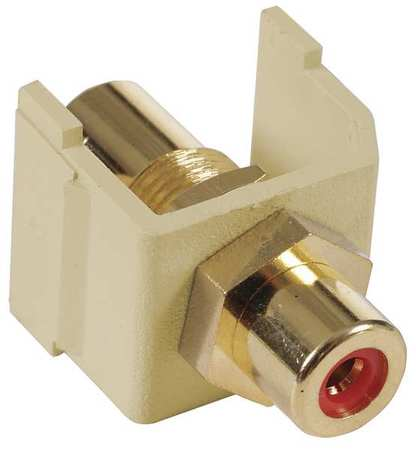 Inline Coupler RCA Duplex Ivory Model SFRCRFFEI by USA Hubbell Premise Voice & Data Jacks