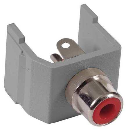 Connector RCA Duplex Gray Model SFRCRGY by USA Hubbell Premise Voice & Data Jacks