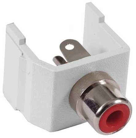 Connector RCA Duplex White Model SFRCRW by USA Hubbell Premise Voice & Data Jacks