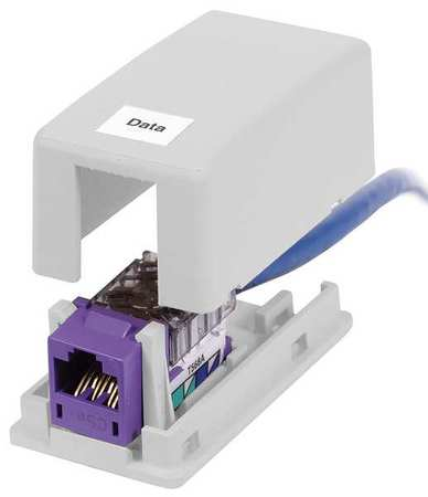 Surface Mount Box 1 Port White by USA Hubbell Premise Voice & Data Outlets Boxes Faceplates