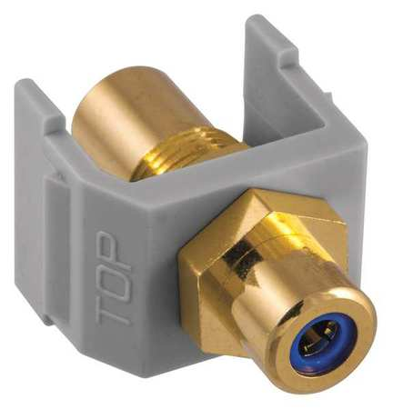 Snap Fit Connector Blue/Gray RCA/RCA by USA Hubbell Premise Voice & Data Jacks