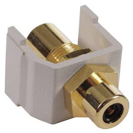 Connector RCA Duplex White Model SFRCBKFF by USA Hubbell Premise Voice & Data Jacks