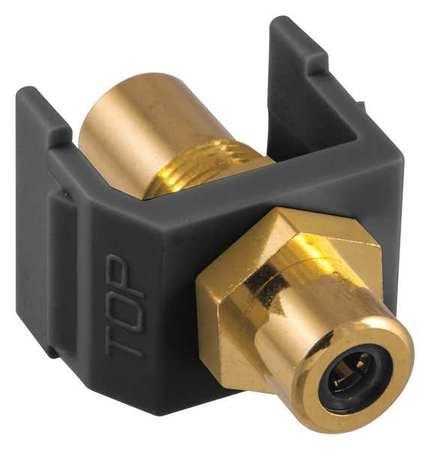 Inline Coupler RCA Duplex Black Model SFRCBKFFBK by USA Hubbell Premise Voice & Data Jacks