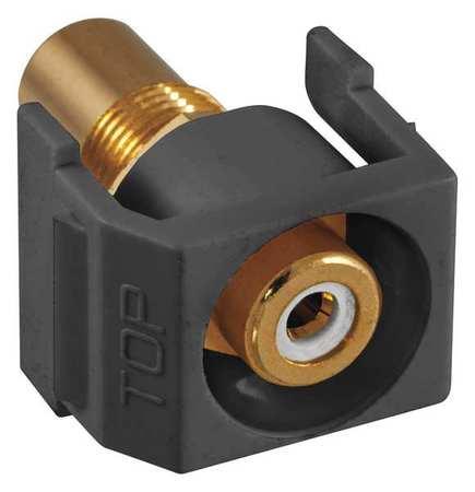 Inline Coupler RCA Duplex Black Model SFRCWRBK by USA Hubbell Premise Voice & Data Jacks