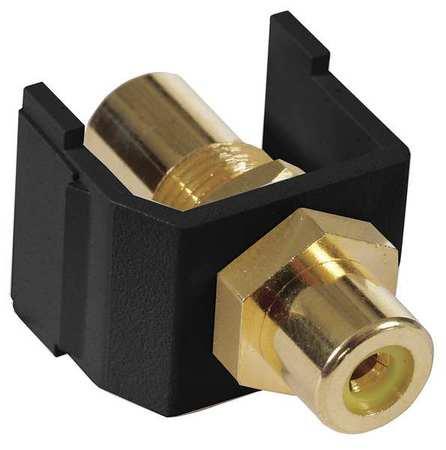 Inline Coupler RCA Duplex Black Model SFRCYFFBK by USA Hubbell Premise Voice & Data Jacks