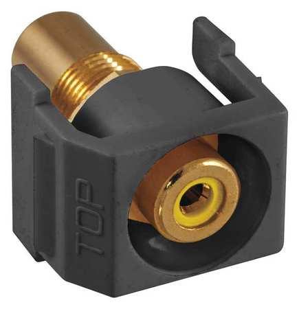Inline Coupler RCA Duplex Black Model SFRCYRBK by USA Hubbell Premise Voice & Data Jacks