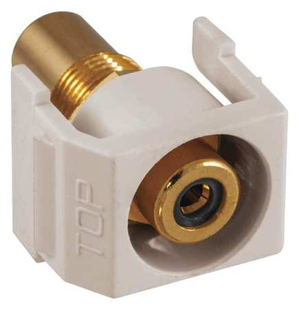 Inline Coupler RCA Duplex Light Almond Model SFRCBKRLA by USA Hubbell Premise Voice & Data Jacks