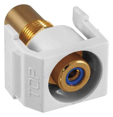 Inline Coupler RCA Duplex White Model SFRCBRW by USA Hubbell Premise Voice & Data Jacks