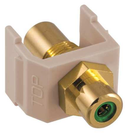 Inline Coupler RCA Duplex Almond Model SFRCGNFFAL by USA Hubbell Premise Voice & Data Jacks