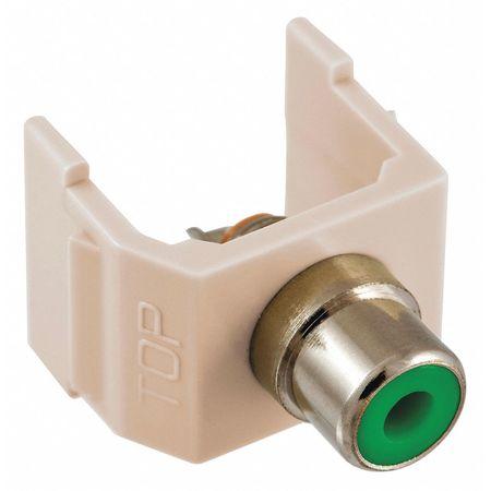 Connector RCA Duplex Light Almond Model SFRCGNLA by USA Hubbell Premise Voice & Data Jacks