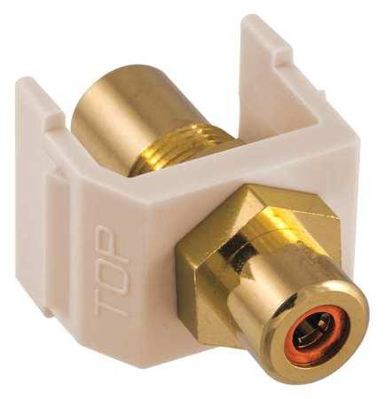 Inline Coupler RCA Duplex Light Almond Model SFRCORFFLA by USA Hubbell Premise Voice & Data Jacks