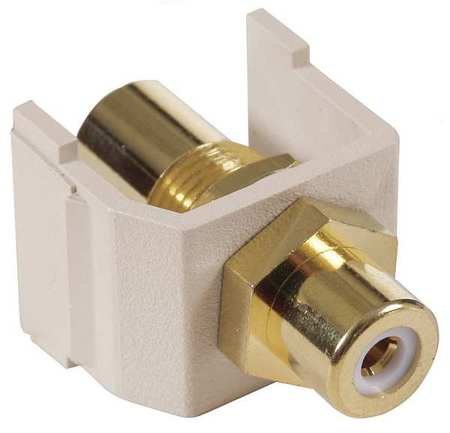 Inline Coupler RCA Duplex Light Almond Model SFRCWFFLA by USA Hubbell Premise Voice & Data Jacks