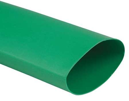 Shrink Tubing 1.0in ID Green 4ft PK10 by USA Raychem Electric Cable Shrink Tubing