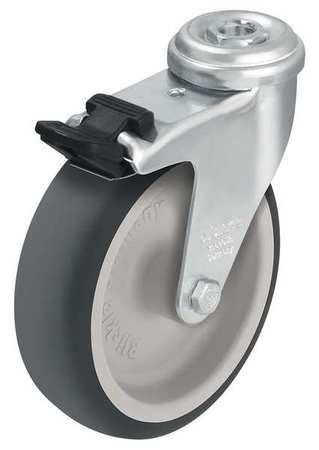 Value Brand Kingpin Swivel Caster Thrm Rubber 2 in 110 lb Znc